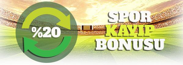 %20 günlük spor kayıp bonusu